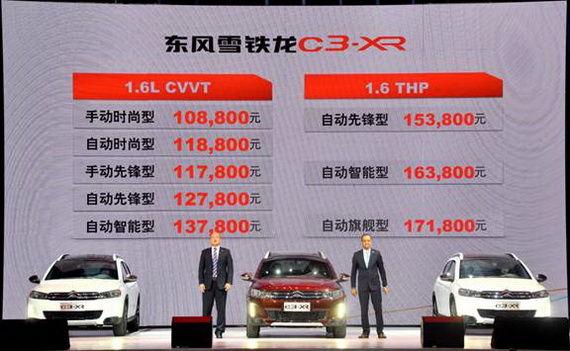 东风雪铁龙C3-XR上市价格