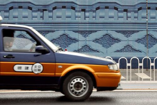 北京路面上常见的出租车