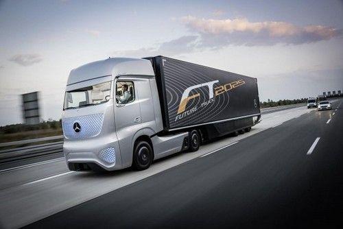 奔驰自动驾驶概念卡车