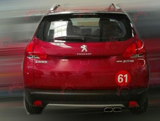东风标致2008车型新增1.6T动力配置谍照