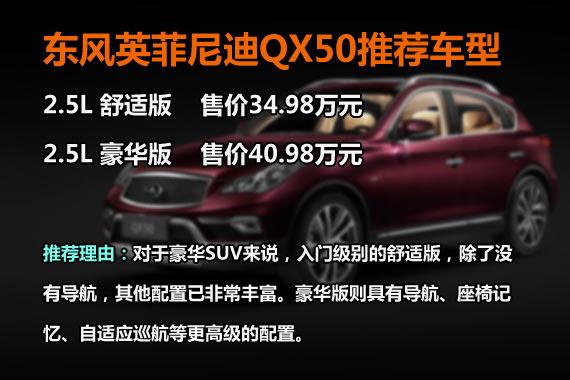 QX50推荐车型