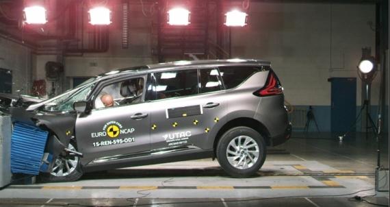 雷诺太空获Euro-NCAP五星最高安全评级