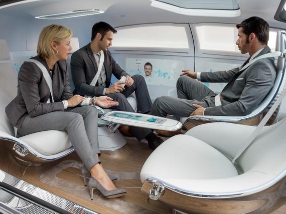 """F 015 Luxury in Motion将汽车变为""""车轮上的豪华会客室"""""""