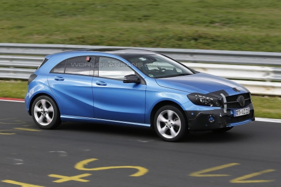 Mercedes-Benz A-Class Facelift Spy 03