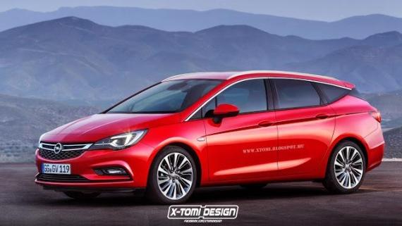 Opel Astra K Sports Tourer render