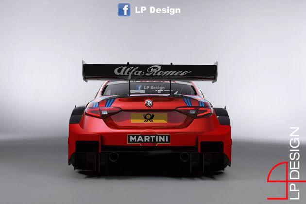 阿尔法・罗密欧发布Giulia DTM车型渲染图