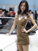 大众汽车展台模特