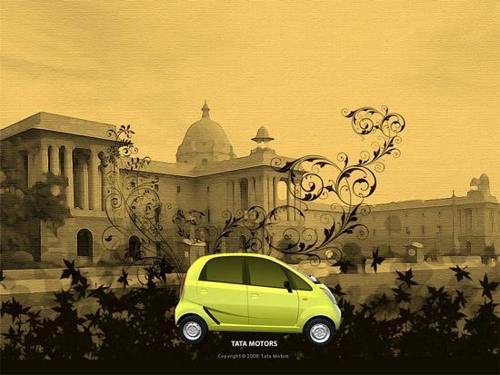 印度Tata全新Nano微型车宣传画