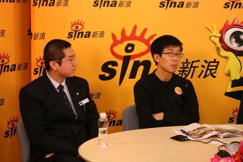 左一为北京鹏翰贸易有限公司销售顾问张博,左二为《中国汽车画报》执行主编刘鸿仓