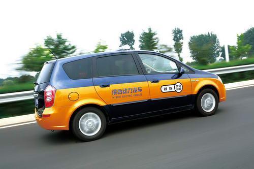 长安杰勋混合动力出租车外观图片
