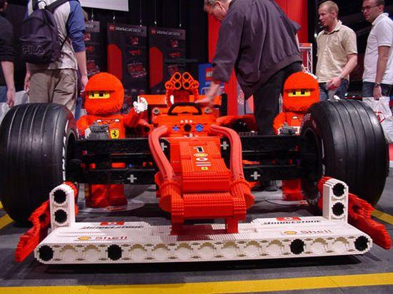 乐高积木版法拉利f1赛车