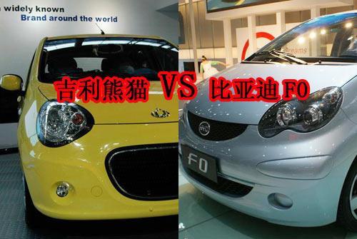 吉利熊猫与比亚迪F0都参加了2008广州车展