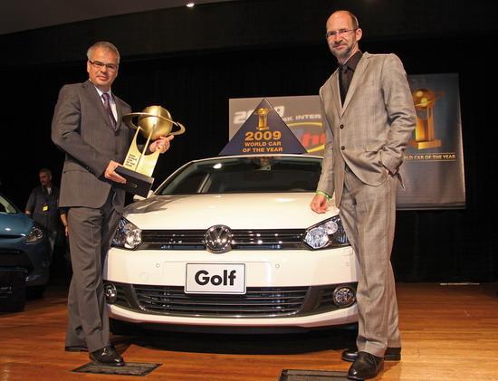 """高尔夫获得""""2009年全球年度风云车型"""