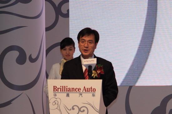 华晨金杯销售公司总经理刘志刚现场致辞