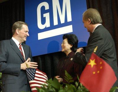 组图:通用汽车与中国签署13亿美元出口协议