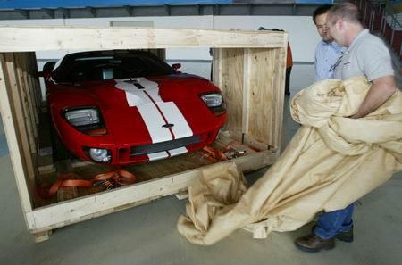 福特GT40概念车抵京即将亮相北京车展(组图)