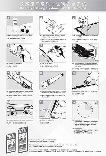 原厂级玻璃安装标准施工步骤