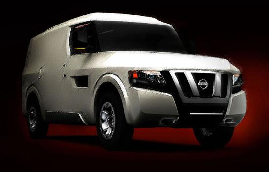 日产NV2500概念车将亮相底特律车展2010年上市