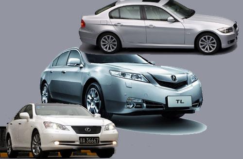 对比Acura09TL、雷克萨斯ES350、宝马330i