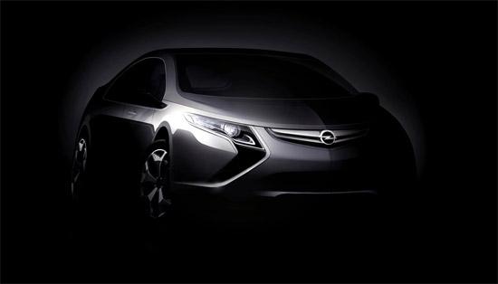 欧宝Ampera新型电动概念车即将亮相日内瓦车展