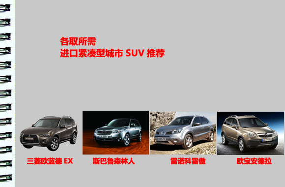 各取所需四款进口紧凑型城市SUV推荐