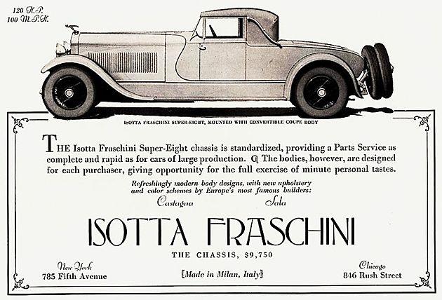 最佳展车 1924年款Isotta Fraschini Tipo 8A