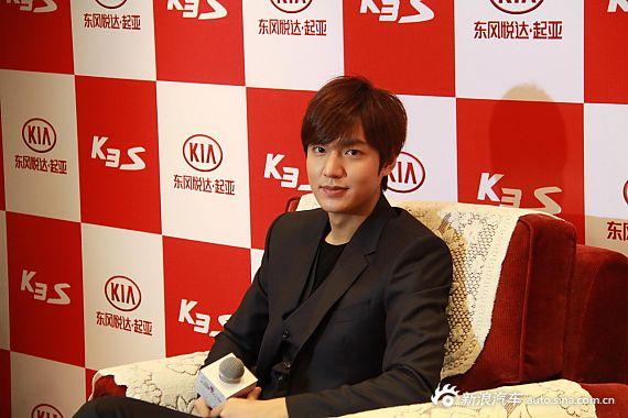 2014款起亚K3S发布会现场 亚洲男神李敏镐现身