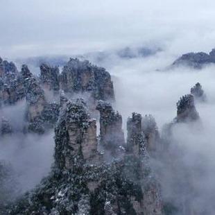 张家界冬景