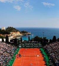 网球大师赛 蒙特卡罗的红绿蓝白