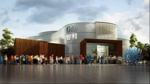 上海世博会智利馆外部效果图——入口-上海世博会智利馆 纽带之城诠