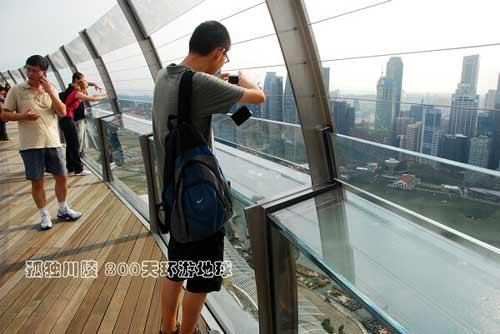 楼顶钢结构玻璃围栏
