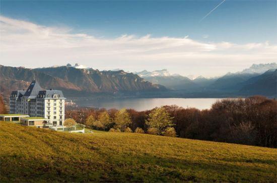 """""""Du Parc Kempinski """"公寓的新生命,完全沿袭了Mont-Pèlerin Palace酒店本身的风韵"""