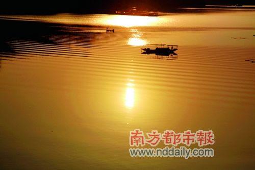 太极湖的夕阳美景