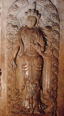 裕陵地宫石门菩萨像