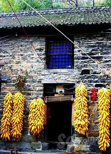 质朴的农家小景在郭亮村随处可见。