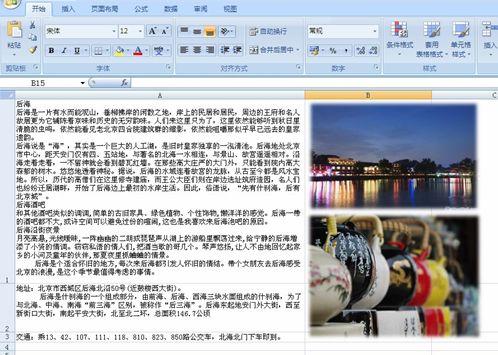 """旅游达人原创""""抢眼大作:超级牛人的贴身攻略"""",""""最""""怀神""""的京城秘籍""""等一批帖子,采用EXCEL制作形式北京线路整理,引发了网友的积极响应"""