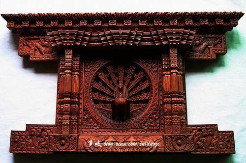 孔雀窗木雕