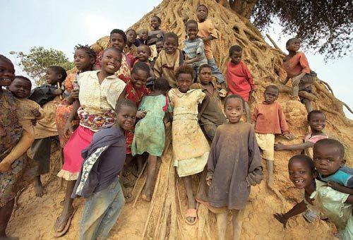 南苏丹的孩童