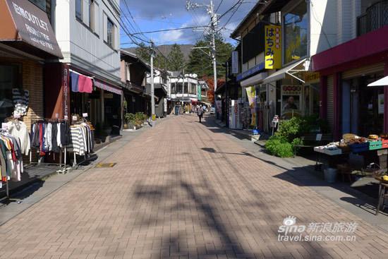 轻井泽的步行街