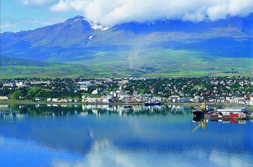 冰岛第二大城市阿克雷里Akure