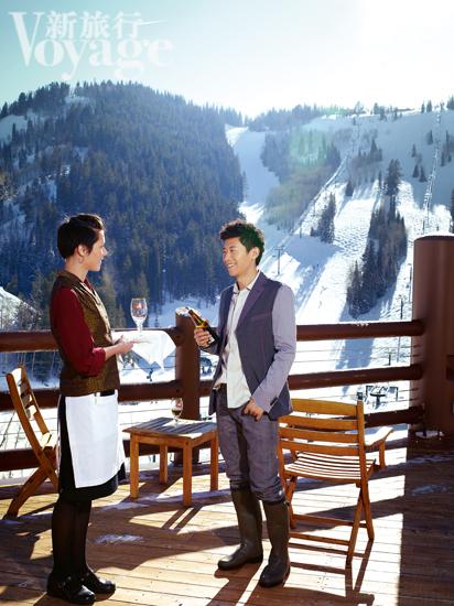 夏雨就住在鹿谷滑雪场的城堡酒店。
