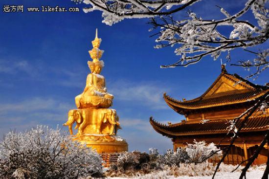 峨眉美丽的冬天 作者:chzhk5312