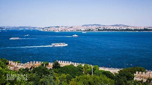 皇宫上看到的博斯普鲁斯海峡