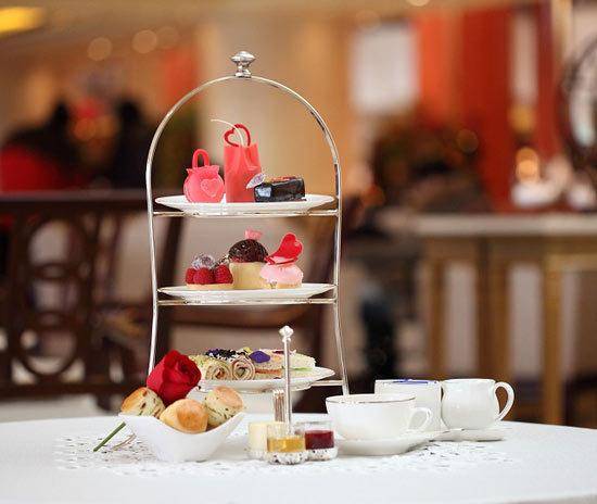 大堂酒廊粉红下午茶图片