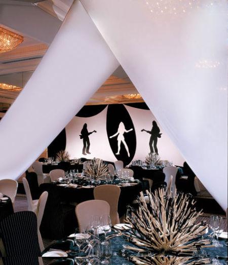 饭店黑白墙绘素材