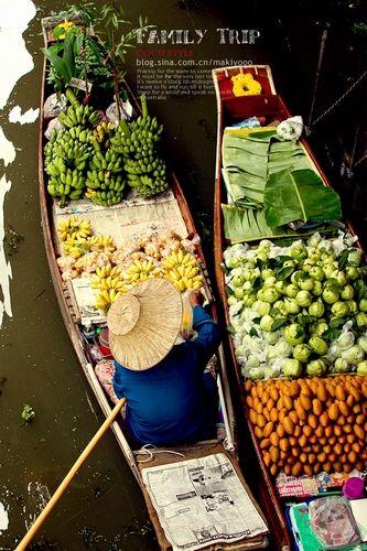 新浪旅游配图:水上市场 摄影:COCU