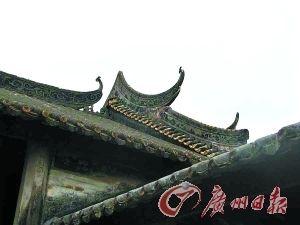 良溪村的岭南特色建筑。