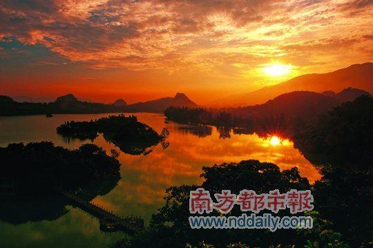 仙女湖夕照。