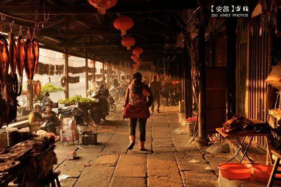 组图:隆冬腊月在绍兴安昌古镇感受年味