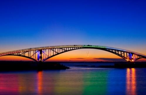 夕阳彩虹桥